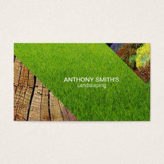 Grass, Wood, Garden Business Card