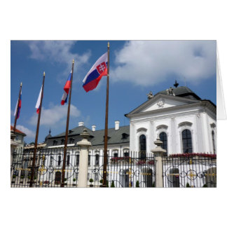 grassalkovich palace flags greeting card