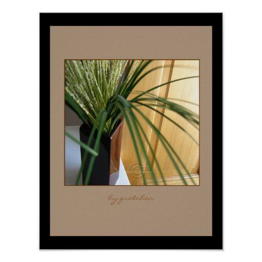 Grasses and Sculpted Door Poster