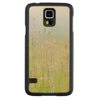 Grasses in motion carved maple galaxy s5 slim case