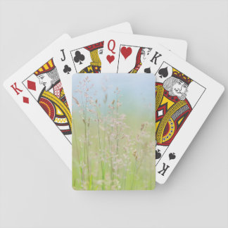 Grasses in motion playing cards