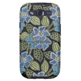 Grasset's Art Nouveau Blue Flowers Samsung Galaxy S3 Cases