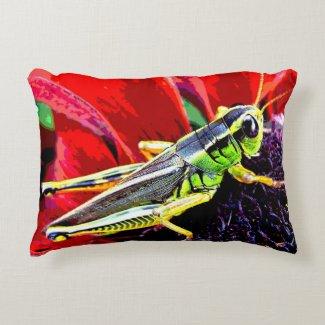 Grasshopper Accent Pillow