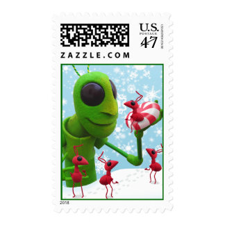 Grasshopper and Ants stamp