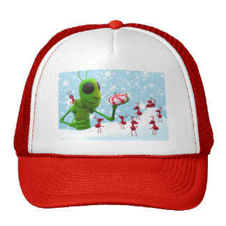 Grasshopper and the Ants Christmas Trucker Hat