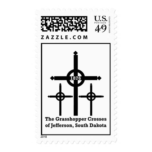 Grasshopper Crosses of Jefferson postage stamp