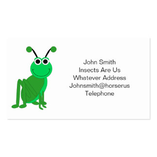 Grasshopper Double-Sided Standard Business Cards (Pack Of 100)