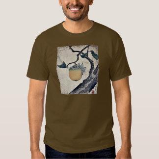 Grasshopper eating persimmon by Katsushika Hokusai Shirt