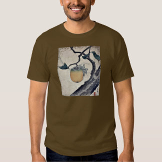 Grasshopper eating persimmon by Katsushika Hokusai Tee Shirt