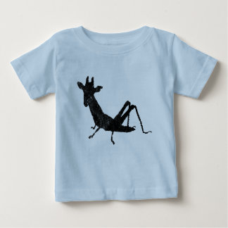 Grasshopper Giraffe  distressed Baby T-Shirt