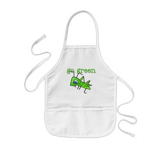 Grasshopper Go Green T-shirts and Gifts Apron