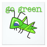 Grasshopper Go Green T-shirts and Gifts Custom Announcement