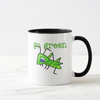 Grasshopper Go Green T-shirts and Gifts Mug