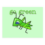 Grasshopper Go Green T-shirts and Gifts Postcard