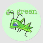 Grasshopper Go Green T-shirts and Gifts Stickers
