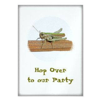 Grasshopper Hop Over To Our  Party Card