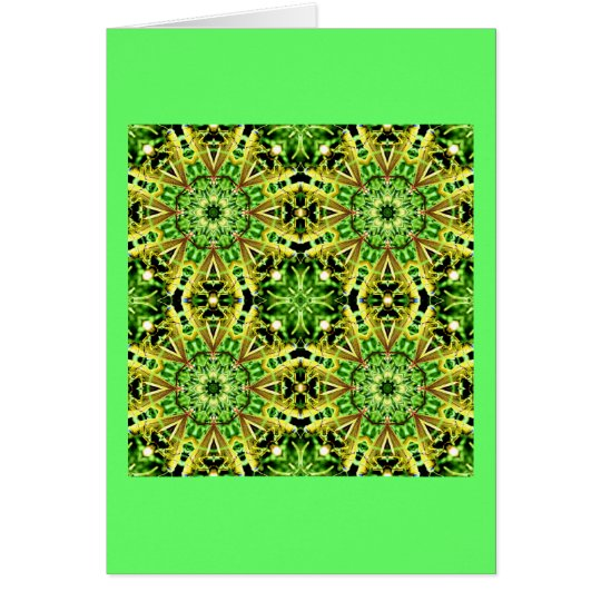 Grasshopper Kaleidoscope Card
