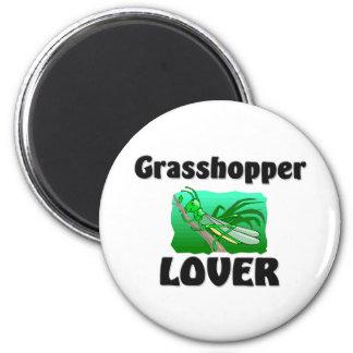 Grasshopper Lover 2 Inch Round Magnet