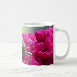 Grasshopper on Cockscomb Coffee Mug