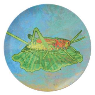 Grasshopper Party Plates