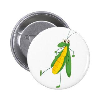 Grasshopper Pinback Button