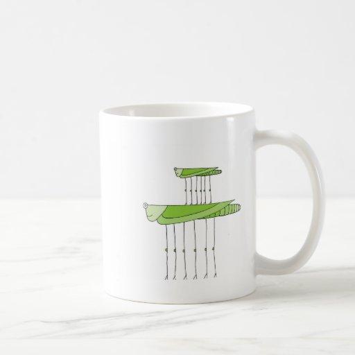 Grasshopper Stack Classic White Coffee Mug