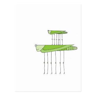 Grasshopper Stack Postcard