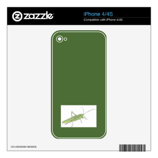 Grasshopper Vinyl Device Protection for iPhone 4/4 iPhone 4 Decals