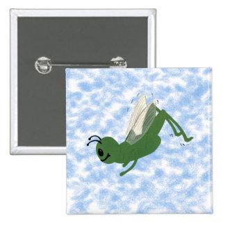 Grasshopper Whimsical Cartoon Art Pin