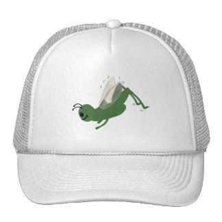 Grasshopper Whimsical Cartoon Art Trucker Hat