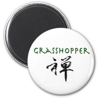 """Grasshopper with """"Zen"""" symbol 2 Inch Round Magnet"""