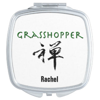 "Grasshopper with ""Zen"" symbol Compact Mirror"