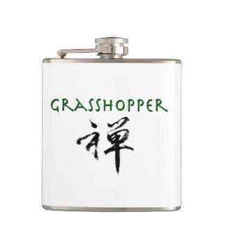 """Grasshopper with """"Zen"""" symbol Hip Flasks"""