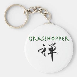 "Grasshopper with ""Zen"" symbol Key Chains"