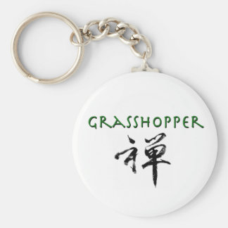 """Grasshopper with """"Zen"""" symbol Keychains"""