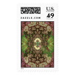 grasshoppers among drying flowers postage