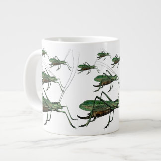 Grasshoppers / Katydids on the Move Antique Image Large Coffee Mug