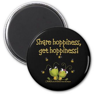 Grasshoppers Share Hoppiness 2 Inch Round Magnet