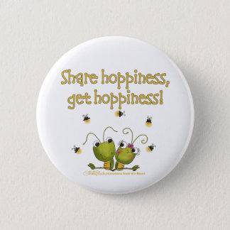 Grasshoppers Share Hoppiness Pinback Button