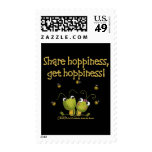 Grasshoppers Share Hoppiness Postage