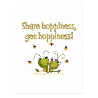 Grasshoppers Share Hoppiness Postcard