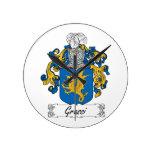 Grassi Family Crest Clock