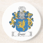 Grassi Family Crest Coaster