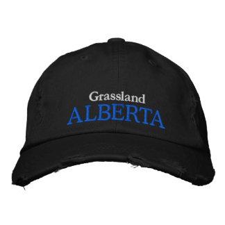 GRASSLAND, ALBERTA CANADA HAT EMBROIDERED HAT