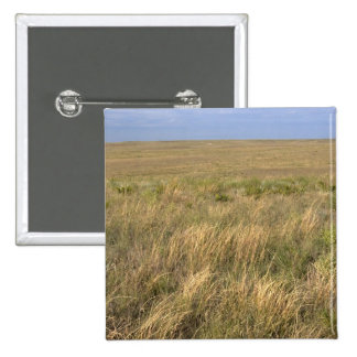 Grassland prairie east of Sidney, Nebraska. Pinback Button