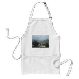 grassland sky field adult apron