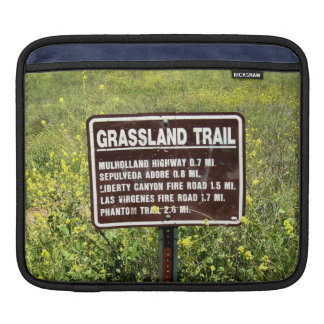 Grassland Trail Sign Sleeves For iPads