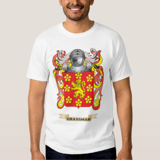 Grassman Coat of Arms (Family Crest) T-shirts