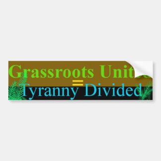 Grassroots Car Bumper Sticker