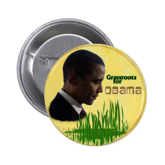 Grassroots for Obama Button